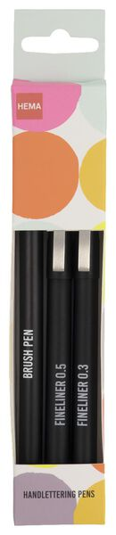 handletterpennen - 3 stuks - 14425200 - HEMA