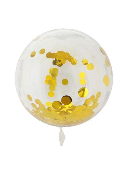 Folienballon mit Konfetti, 50 cm - 60800660 - HEMA