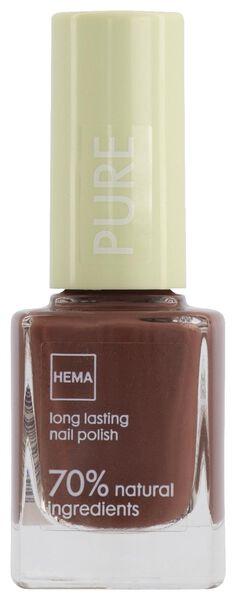 vernis à ongles pure longlasting 239 brandy brown - 11240239 - HEMA