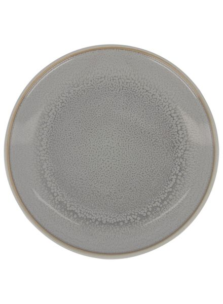 Kuchenteller Helsinki – 16.5 cm – reaktive Glasur – hellgrau - 9602016 - HEMA