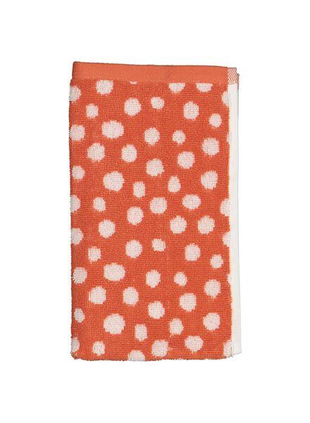 petite serviette - 30 x 55 cm - qualité épaisse - corail à pois - 5230007 - HEMA