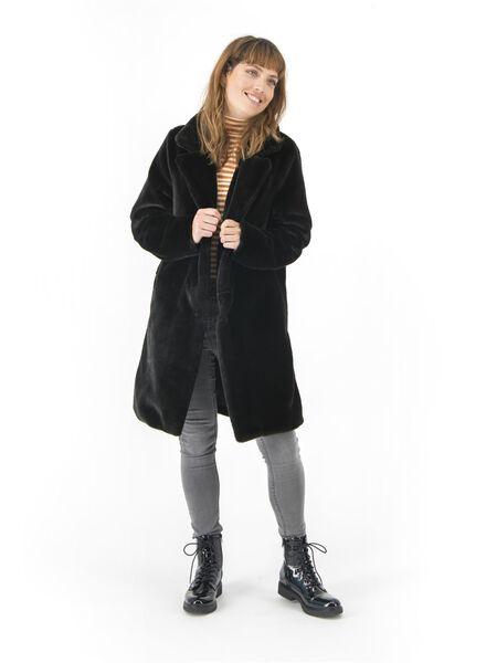 Damenjacke – Webfell schwarz schwarz - 1000017064 - HEMA