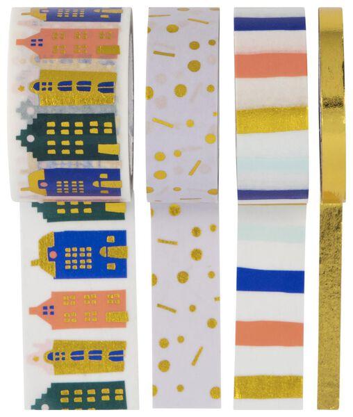 4 rolls of washi tape 5 m - 14700394 - hema
