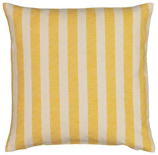 housse de coussin - 50x50 - rayure - jaune/blanc - 7320001 - HEMA
