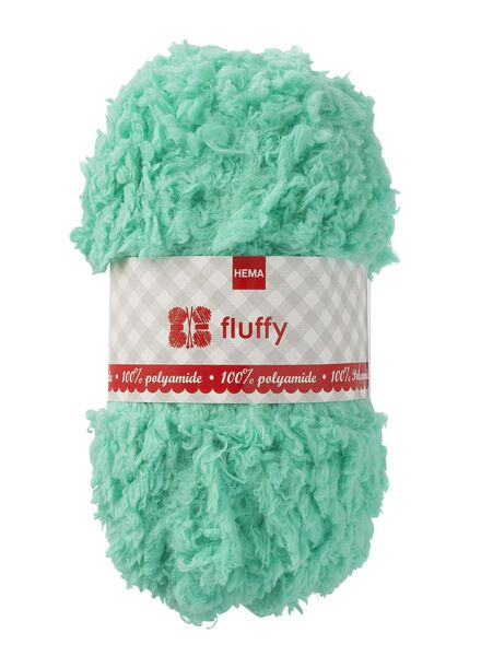 knitting yarn fluffy - 50g fluffy mint green - 1400181 - hema