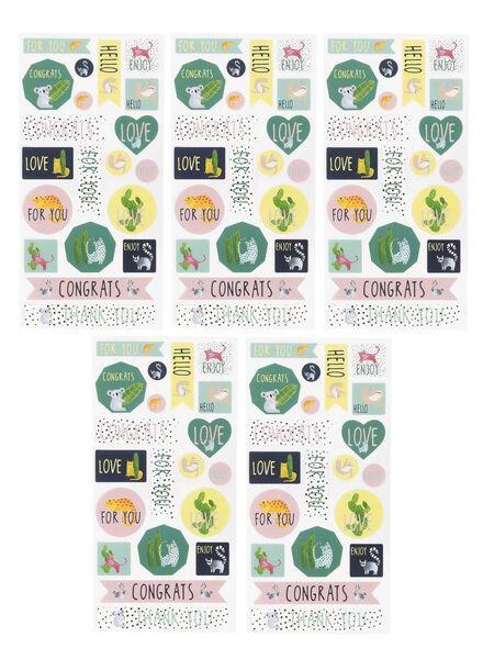 5 feuilles autocollants 5 x 8 x 15,5 cm - 14700201 - HEMA
