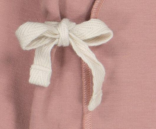 newborn overslagvest met bamboe roze roze - 1000021041 - HEMA