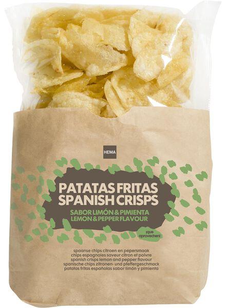 spanish crisps - lemon and pepper - 110 grams - 10635781 - hema