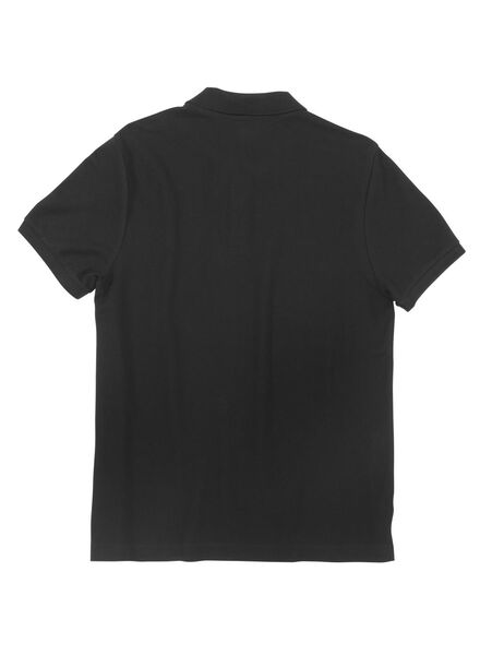 men's polo shirt organic cotton black black - 1000006094 - hema