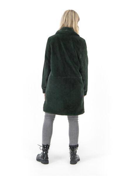 Damenjacke – Webfell dunkelgrün dunkelgrün - 1000017062 - HEMA