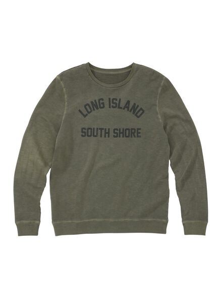 men's sweatshirt green green - 1000006109 - hema