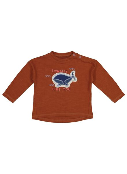 baby T-shirt brown brown - 1000017508 - hema