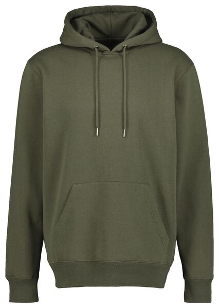 men's hooded sweater army green L - 34250733 - hema