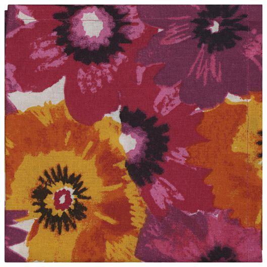 tea towel 65x65 flowers - 5490044 - hema