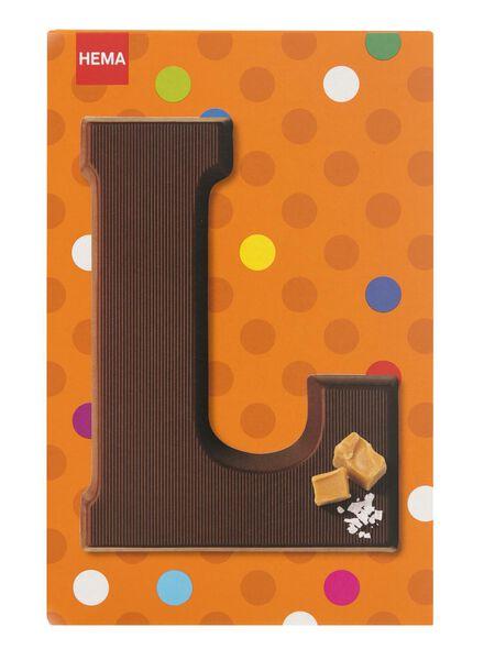 caramel sea salt milk chocolate letter L - 10039012 - hema