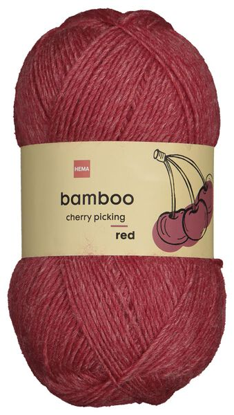 yarn wool bamboo 100 grams red - 1400224 - hema