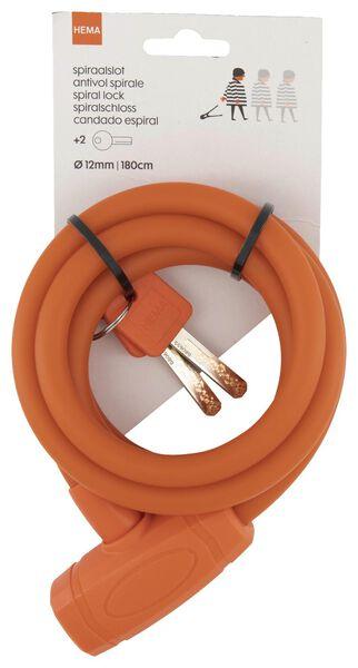 antivol spirale 180 cm - Ø 12 mm - rouge - 41110030 - HEMA