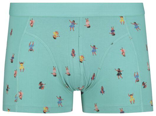 men's boxers short cotton stretch blue blue - 1000018800 - hema