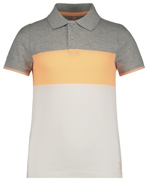 children's polo shirt grey melange grey melange - 1000018913 - hema