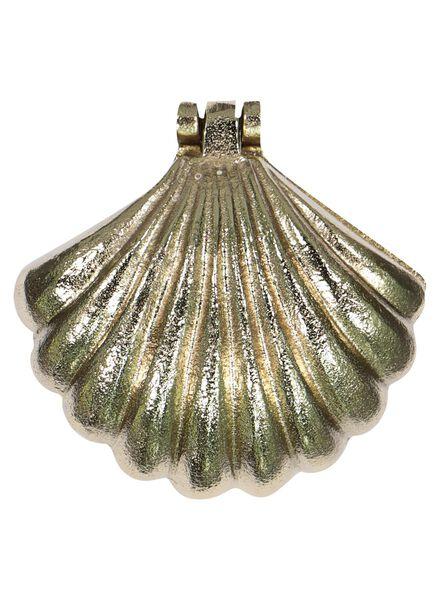 boîte à bijoux coquillage 11,4x12x7-dorée - 60100422 - HEMA