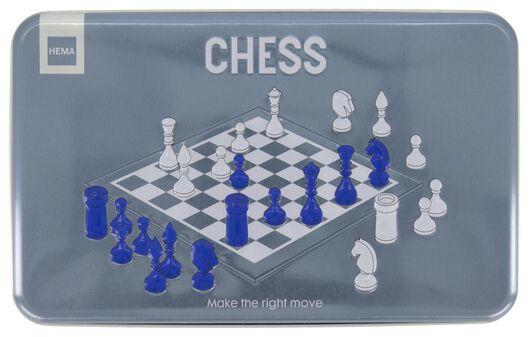 schaakspel in blik - 61122356 - HEMA