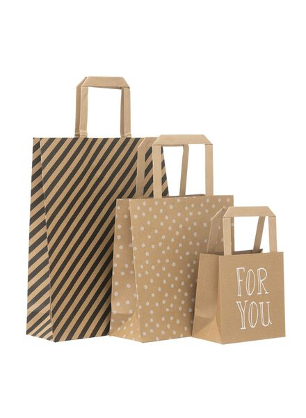 3-pack gift bags - 14700069 - hema