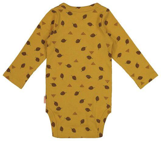 newborn wrap-around bodysuit with bamboo yellow yellow - 1000017636 - hema