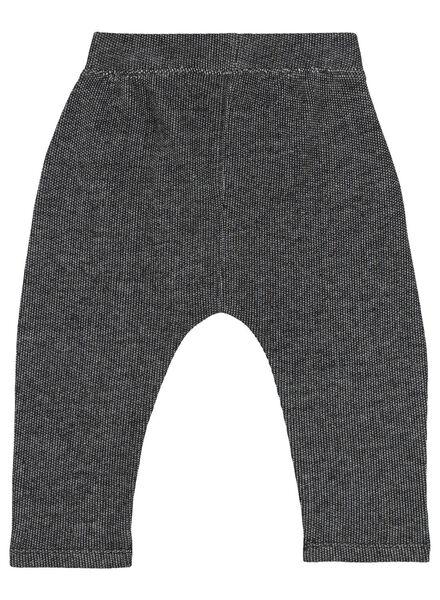 2-pack baby sweatpants black/white black/white - 1000016902 - hema