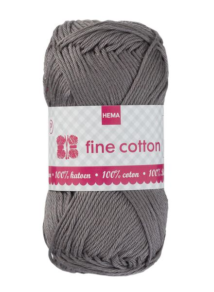 Strickgarn Fine Cotton - grau - 1400169 - HEMA