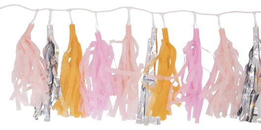 slinger tassel 3 meter roze - 14200546 - HEMA