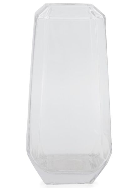 vase 31 cm - facet - glass - 13392026 - hema