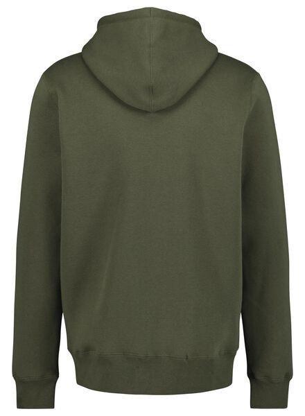 men's sweatshirt cardigan green green - 1000014295 - hema