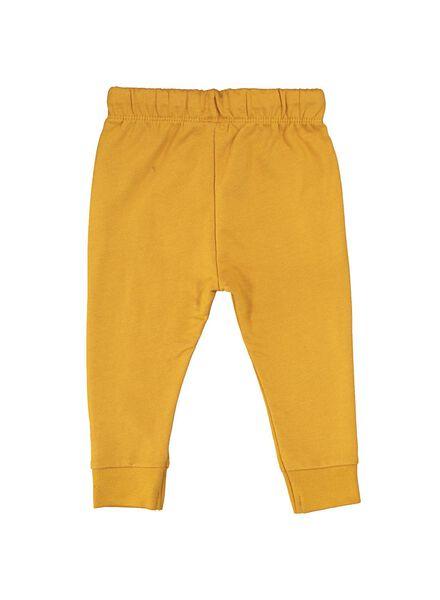 baby sweatpants yellow yellow - 1000014710 - hema