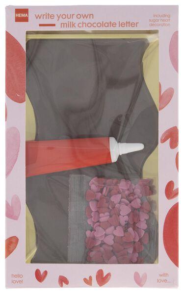 lettre en chocolat au lait 109g - 10056005 - HEMA