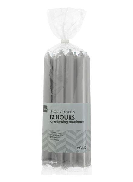 12 longues bougies gris clair 2.2 x 29 - 13503363 - HEMA