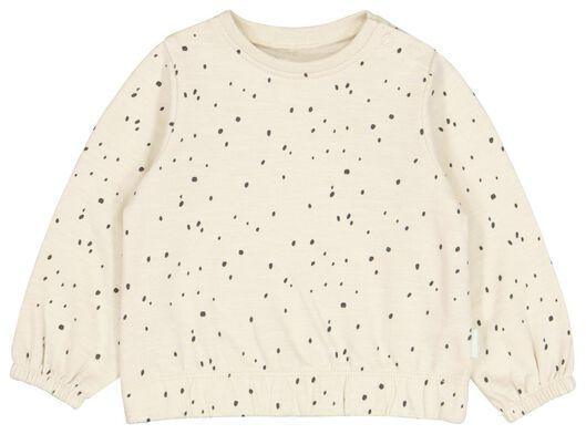 Babyoberteile - HEMA Newborn Sweatshirt, Punkte Eierschalenfarben - Onlineshop HEMA