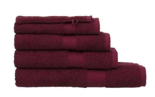 serviettes de bain - qualité épaisse rouge foncé rouge foncé - 1000015176 - HEMA