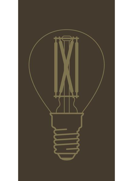 LED lamp 3.5W - 200 lm - bullet - gold - 20020080 - hema