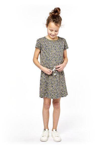 Kinder-Kleid graugrün graugrün - 1000018978 - HEMA