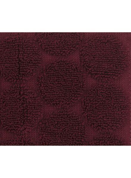 towel -  50 x 100 cm -  heavy quality - bordeaux dot dark red towel 50 x 100 - 5220008 - hema