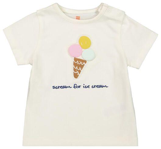 newborn T-shirt - organic cotton white white - 1000019818 - hema