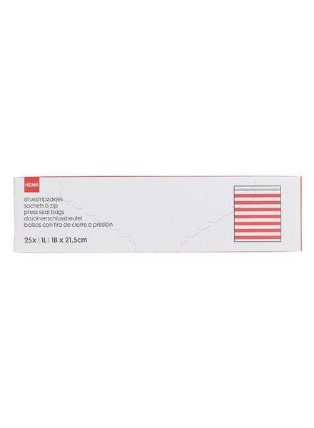 25-pack zip-lock bags 1 L - 20500017 - hema