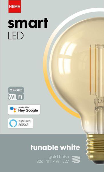 Smart-LED-Kugellampe, 7 W, 806 lm, gold - 20000030 - HEMA