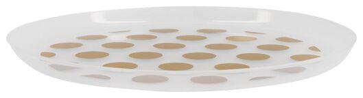 4er-Pack Kunststoffteller, wiederverwendbar, Ø 22.5 cm, goldene Punkte - 14200393 - HEMA