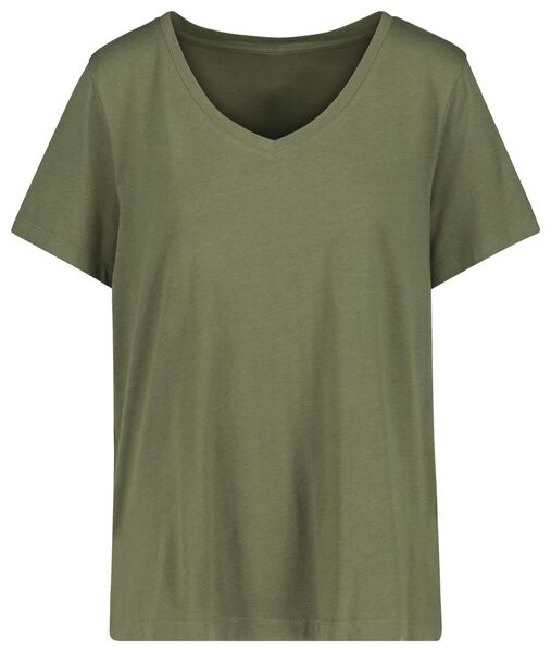women's T-shirt with bamboo olive olive - 1000019194 - hema