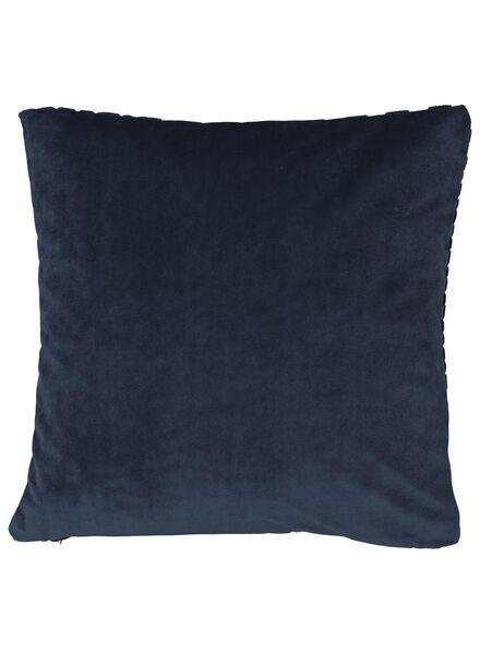 cushion cover - 40x40 - dark blue velvet - 7392038 - hema