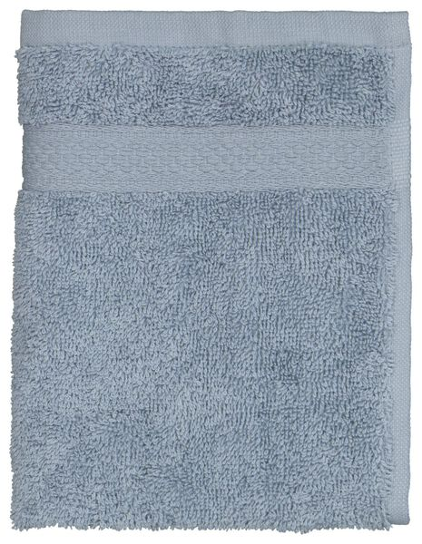 petite serviette 30x55 qualité épaisse noire blauw petite serviette - 5230038 - HEMA