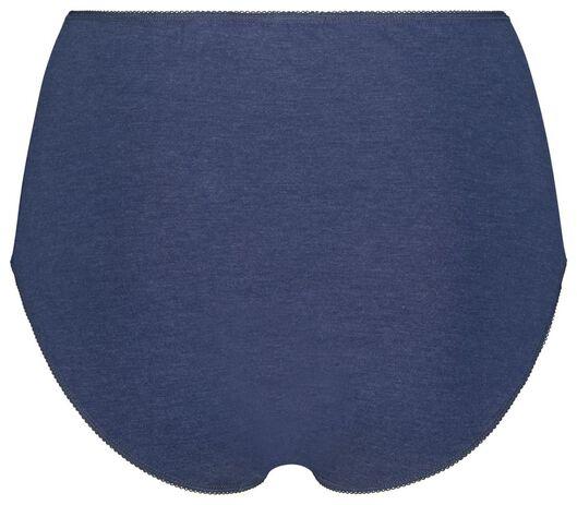 3 slips taille haute femme bleu bleu - 1000018558 - HEMA