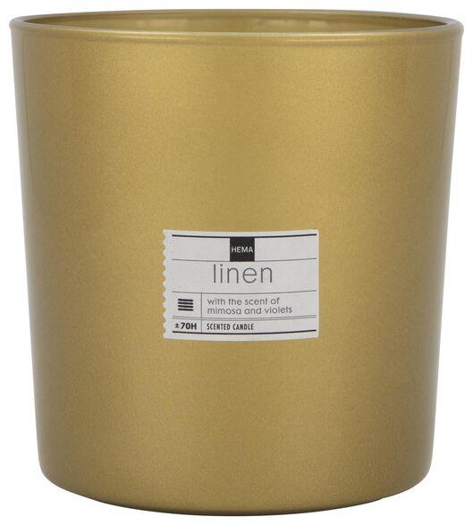 bougie parfumée dans un vase Ø 13 cm - mimosa et violette - 13502417 - HEMA