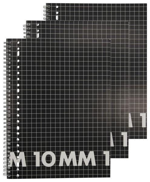 3 lecture notebooks A4 squared 10 mm - 14102928 - hema